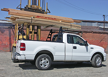 Atlas Truck rack with loading lumber